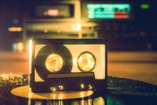 Shiny Vintage Audio Cassette O...