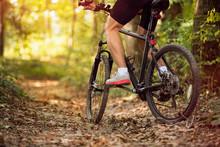 Muscular Legs And Mountain Bike