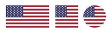America Flags Vector Set - Nat...