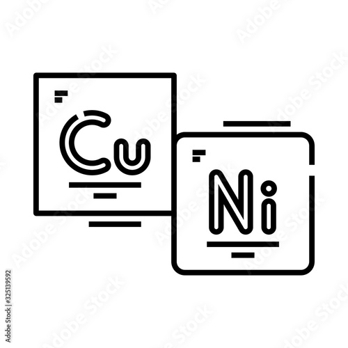 Chemical elements line icon, concept sign, outline vector illustration, linear symbol Wallpaper Mural