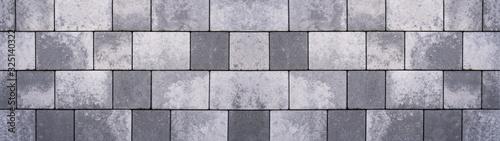 Fotografia Gray concrete stone pavement texture background banner panorama
