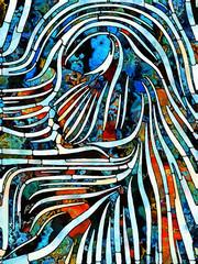 Naklejka Witraże świeckie Energy of Stained Glass