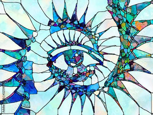Naklejki na parawan nawannowy   stained-glass-study