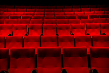 Red Color  Cinema Seats With N...