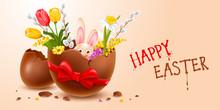 Broken Easter Chocolate Egg Wi...