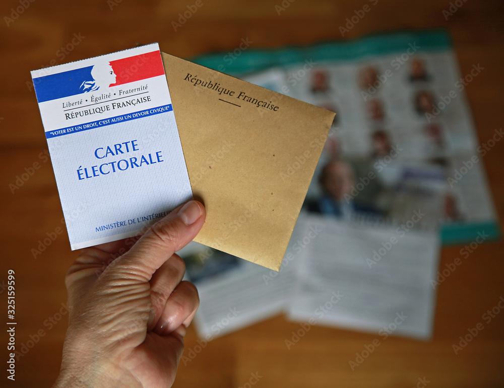 Fototapeta Carte électorale pour élection française