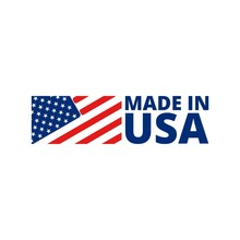Made In USA Badge With America...