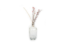 Dead Flower In A Glass Vase On...