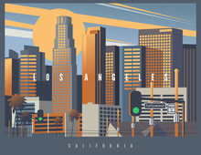 Cityscape Of Los Angeles Durin...