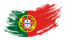 Portuguese Flag Grunge Brush B...
