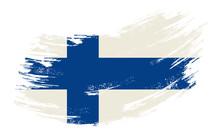 Finnish Flag Grunge Brush Back...
