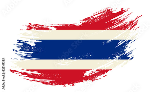 Foto Thai flag grunge brush background. Vector illustration.