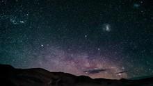 Time Lapse Milky Way Above Salar Pocitos Argentina