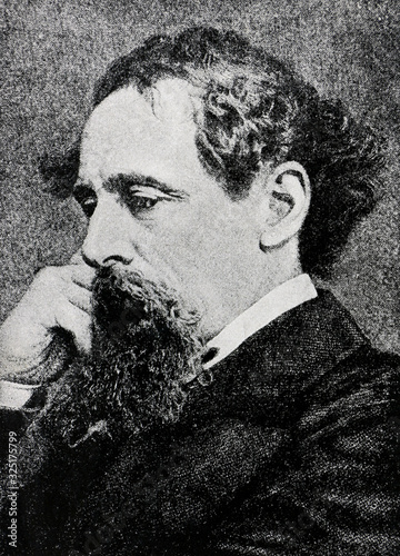 Charles Dickens portrait from A Tale of Two Cities 1922 Canvas Print