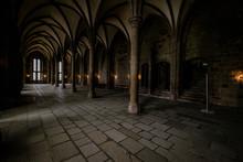 Inside Detail Of Mont Saint Michel Abbey Of Mont Saint-Michel