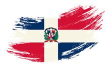 Dominican Republic Flag Grunge...