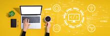 Web Development Concept With P...