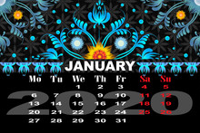 Calendar Decorative Flowers Fo...