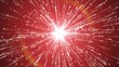 starburst particle emitter abstract red background