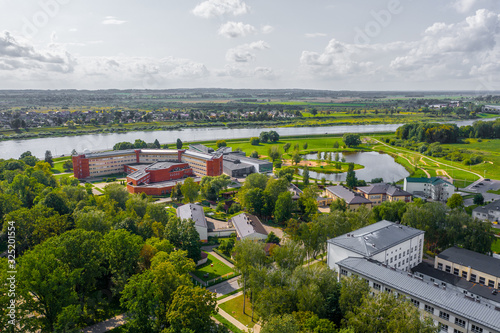 Beautiful Aerial view photo from flying drone panoramic on Daugavpils city center beautiful summer day in Latgale ,Latvia (series) © Sandis
