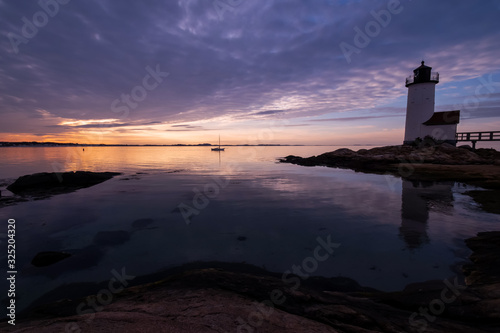 Fotografija Annisquam Lighthouse at sunset - Gloucester, Massachusetts.