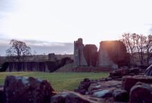 Castle Framed By Sunset
