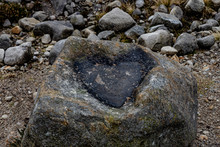 Black Heart Of Stone Shape In ...