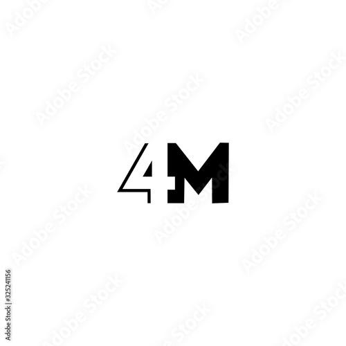 Fényképezés 4M 4 M logo icon design template elements
