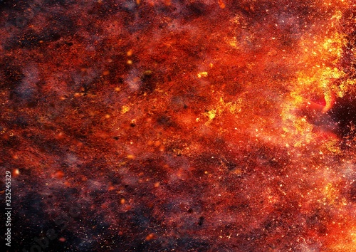 抽象的な炎 Canvas
