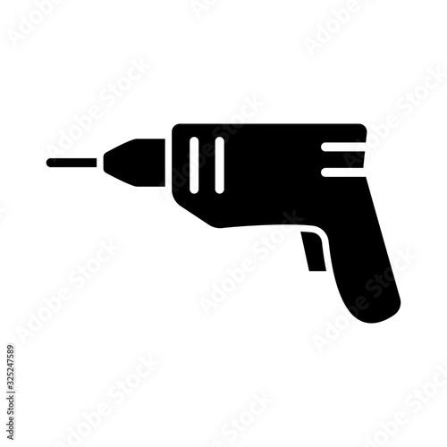 Stampa su Tela hand drill icon design, flat style icon collection