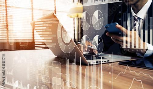 Fototapeta ビジネスと統計 obraz