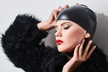 Extravagant Fashion Model