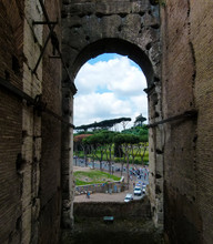 View Of City Through Arch