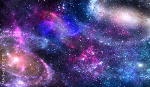 Fototapety, obrazy: galaxy, Universe, Earth, star cluster, creation, Dimensional disaster In string theory, little loops of vibrating stringiness in the theory, they are the fundamental object of reality manifest as the