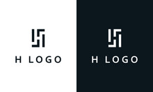 Minimalist Abstract Elegant Line Art Letter H Logo. This Logo Icon Incorporate With H Logo And Brand Name In The Creative Way.