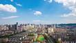 aerial view of hangzhou, China