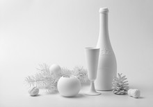 New Year's White Still Life Wi...