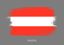 Austria Official Flag In Shape...