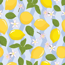 Seamless Pattern Lemons And Le...