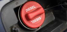 """A Red Fuel Cap With The Inscription """"Diesel"""""""