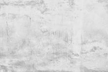 White Wall Cracks Background /...