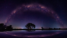 Amazing Panorama Blue Night Sk...