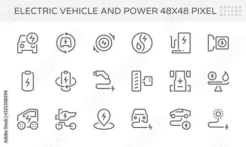 electric vehicle power icon Fototapete