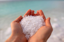 Close-up Of The Salt From The ...