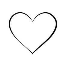 Outline Hand Drawn Heart Icon.Vector Heart Collection. Illustration For Your Graphic Design.