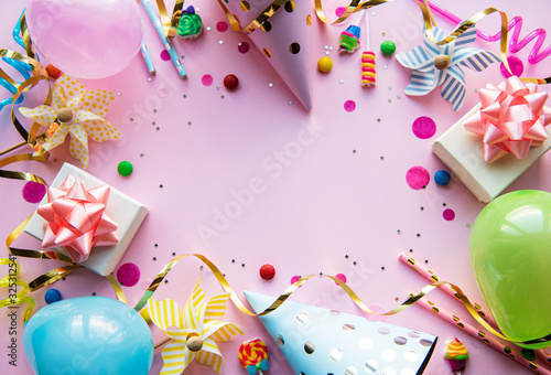 Obraz Happy birthday or party background - fototapety do salonu
