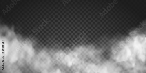 Photo Vector realistic smoke cloud or gray fog, rocket or missile launch pollution