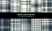 Plaid Pattern Set. Seamless Ta...