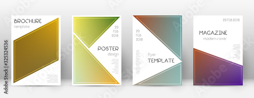 Flyer layout. Triangle charming template for Broch Wallpaper Mural