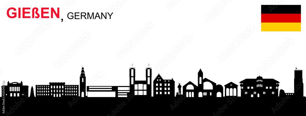 Fototapeta Gießen Skyline